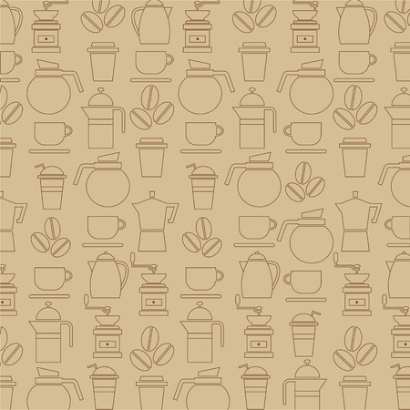 percolator: Coffee Lover Background Illustration
