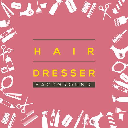 hair dresser: Hair Dresser Background Illustration