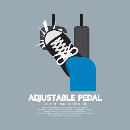 Adjustable Pedal Illustration Illustration