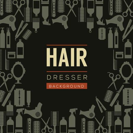 dresser: Hair Dresser Background Illustration