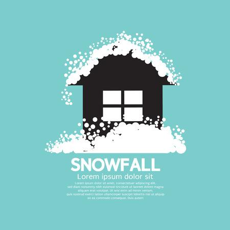 heavy: Heavy Snowfall On Home Illustration