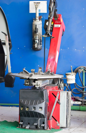 tire fitting: Tire Fitting Machine Close Up