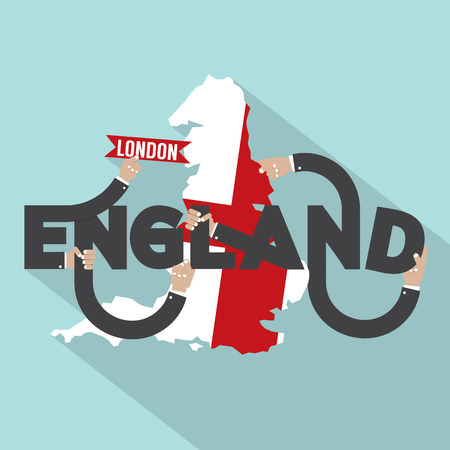 london england: London The Capital City Of England Typography Design Vector Illustration