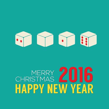 spot clean: 2016 New Year Card Vector Illustration Illustration