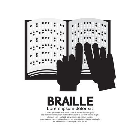 braille: Braille Lectura Lenguaje Por La Ilustración vectorial Ciegos Vectores