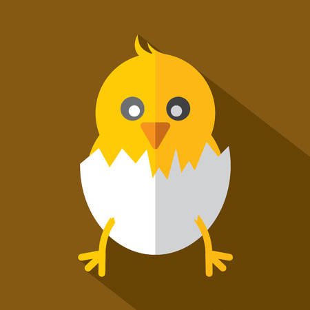 Modern Flat Design Chick Icon Vector Illustration