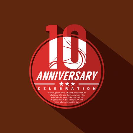 anniversary: 10 A�os de Aniversario Dise�o Celebraci�n