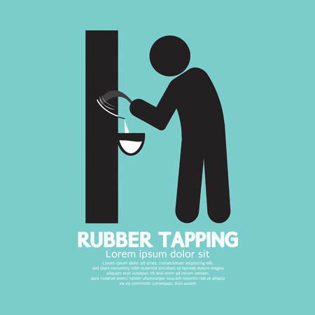 Black Symbol Rubber Tapping Vector Illustration