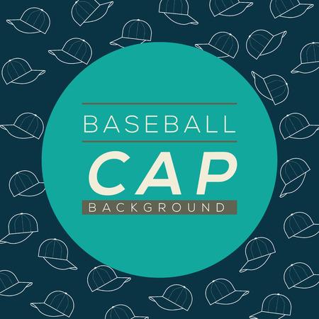baseball caps: Baseball Caps Background Vector Illustration