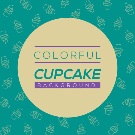 cupcake illustration: Colorful Cupcake Background Vector Illustration