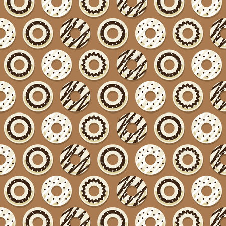 cake with icing: Chocolate Donut Background Vector Illustration
