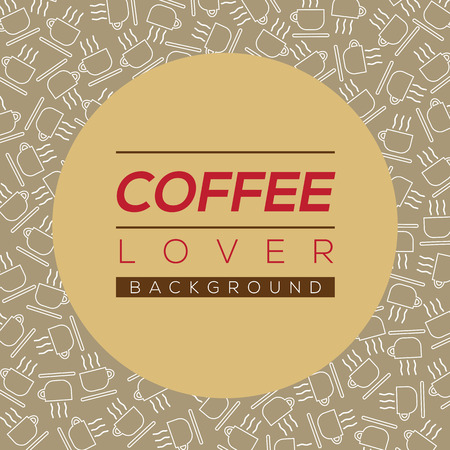 background coffee: Coffee Lover Background Vector Illustration