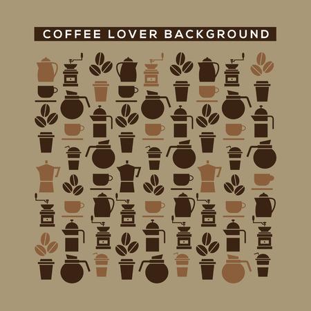 grano de cafe: Amante del café ilustración de fondo vector