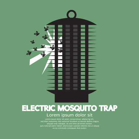 bugs: Electric Mosquito Trap Vector Illustration