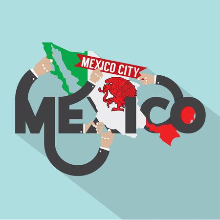 mexico: Mexico Typography Design Vector Illustration Illustration