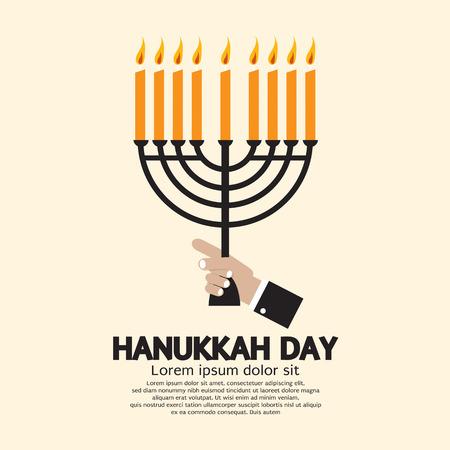 candles: Hanukkah Day Celebration Vector Illustration Illustration