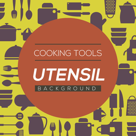 utensils: Cooking Tools And Utensil Background Vector Illustration