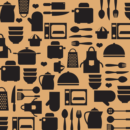 juice extractor: Cooking Tools And Utensil Background Vector Illustration