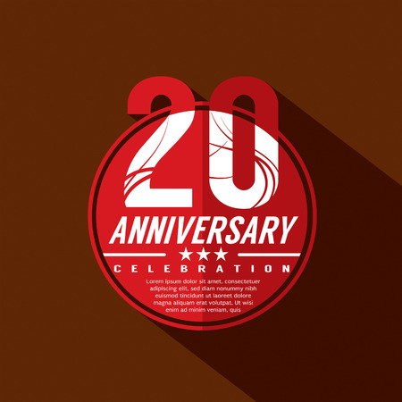 20 Years Anniversary Celebration Design
