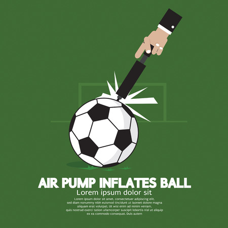 inflate: Air Pump Inflates Ball Vector Illustration Illustration