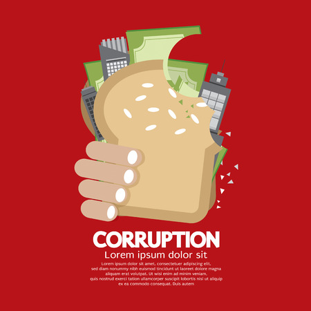 corruption: Corruption Concept Vector Illustration