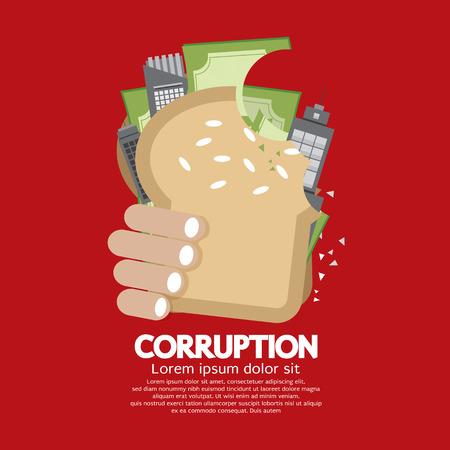 the corruption: Corruption Concept Vector Illustration