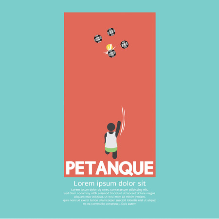 sport icon: Top View Of Petanque Playing Vector Illustration