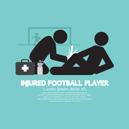 gibier: Bless� Joueur de Football Illustration Vecteur Illustration