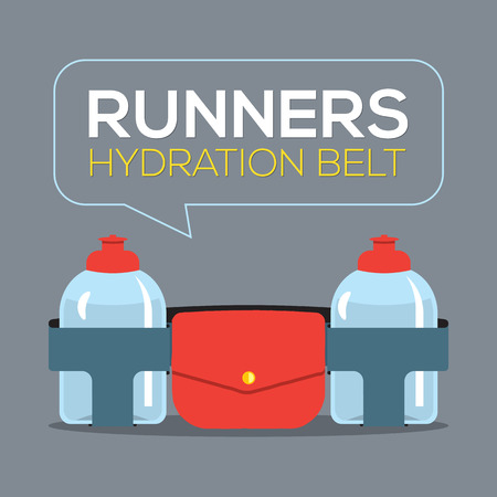 hydrate: Runners Hydration Belt Vector Illustration