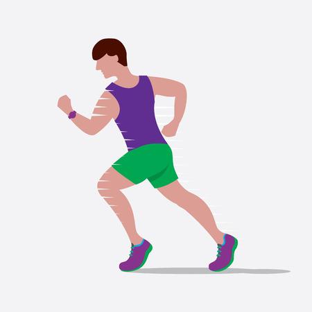 speedy: Speedy Male Runner Vector Illustration