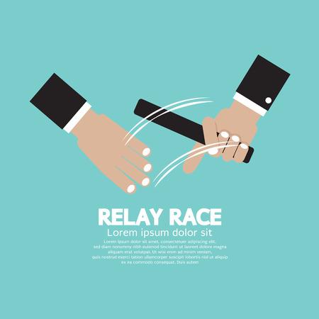 teammates: Relay Race Vector Illustration Illustration