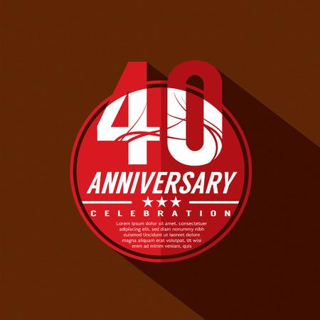 40: 40 Years Anniversary Celebration Design