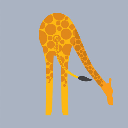 bottom: Giraffe Bottom Vector Illustration Illustration