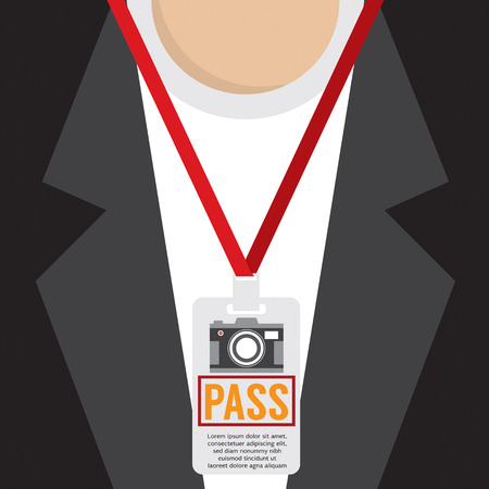 lanyard: Photographer Pass Lanyard Vector Illustration Illustration