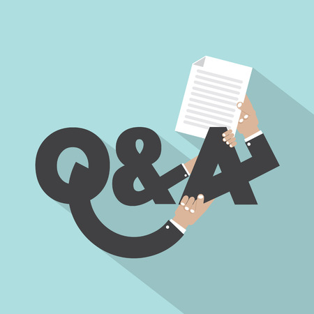 answer: Question And Answer Typography Design Vector Illustration