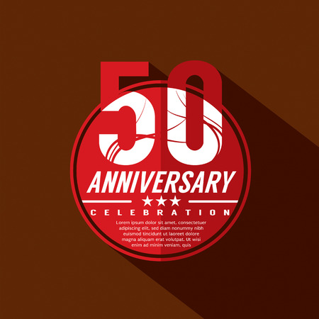 50 years anniversary: 50 Years Anniversary Celebration Design