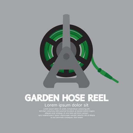 sprinkler: Side View Of Garden Hose Reel Vector Illustration Illustration