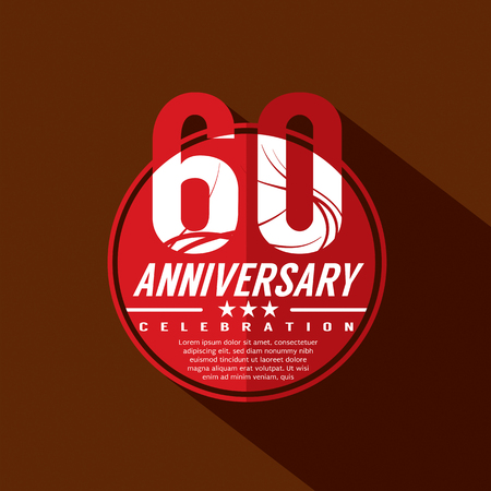 60th: 60th Years Anniversary Celebration Design