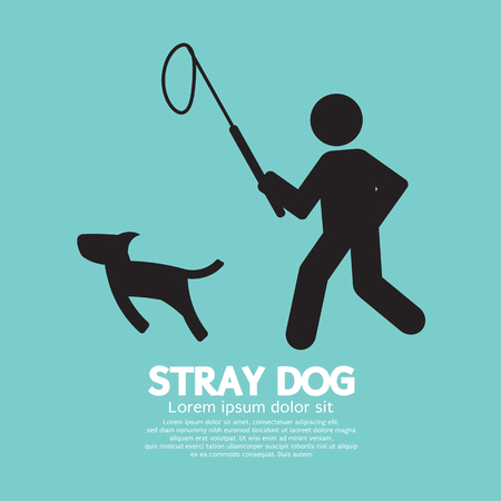 stray: Black Symbol Stray Dog Vector Illustration Illustration