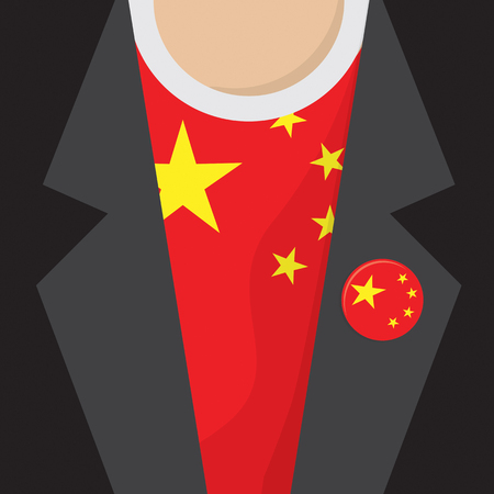 clasp: I Love China T-Shirt Vector Illustration Illustration