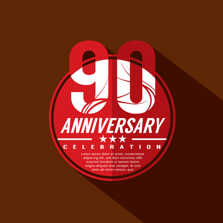 90th: 90th Years Anniversary Celebration Design