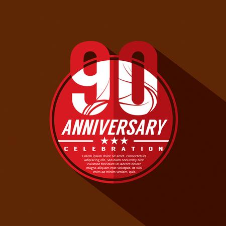 90th: 90th Years Anniversary Celebration Design