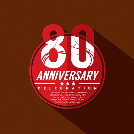 80th: 80th Years Anniversary Celebration Design
