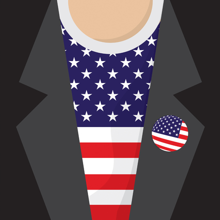 clasp: T-Shirt Flag USA Vector Illustration