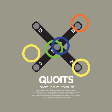pitching: Top View Of Quoits Vector Illustration