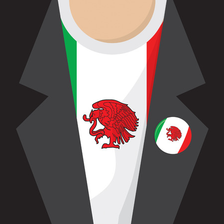 clasp: T-Shirt Flag Mexico Vector Illustration Illustration