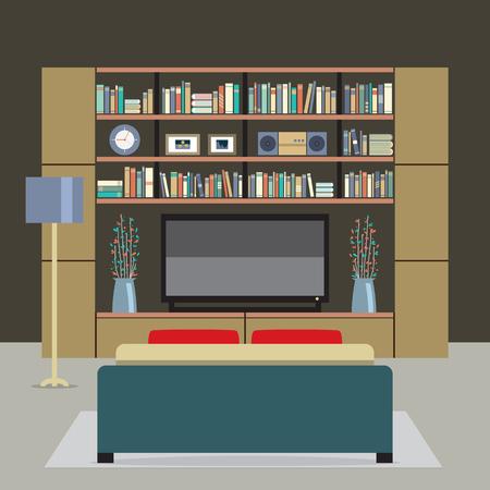 modern living room: Modern Style Living Room Vector illustration
