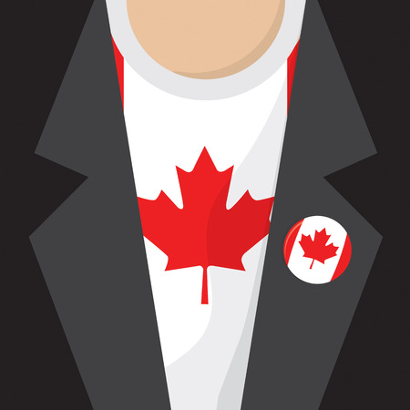 clasp: T-Shirt With Canada Flag Vector Illustration