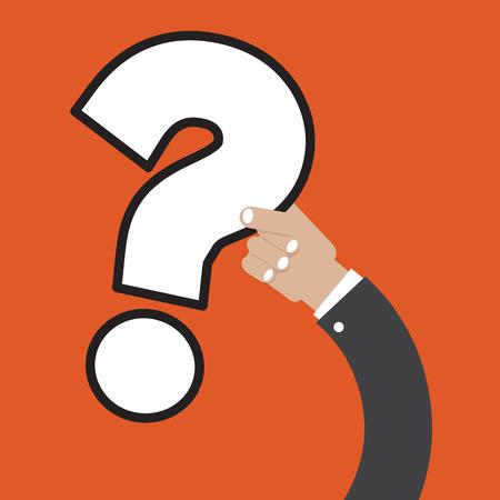 suspicion: Question Mark In Hand Vector Illustration Illustration