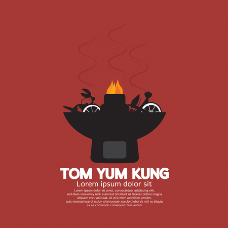 Tom Yum Kung Vector Illustration Banco de Imagens - 45984429
